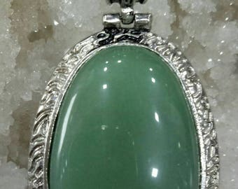 Green Aventurine Stone Pendant ~ Gemstone Pednant ~ Green Aventurine Necklace