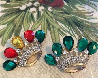 Crown Pin Red Green