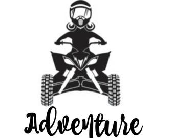 Lady Adventure vinyl sticker for quad or off road