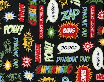 Superhero Adventure  Cotton Fabric  -  Robert Kaufman Fabrics - Boys Fabric