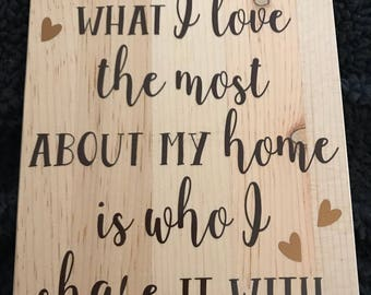 Home decorative sign
