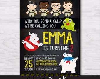 Ghostbusters Invitation, Ghostbusters Party, Ghostbusters Birthday Party, Ghostbusters Birthday, Ghostbusters Party Supplies, DIGITAL Invite