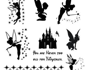 Tinkerbell svg, Tinkerbell clipart, Tinker Bell svg Disney files silhouette, digital – svg eps png dxf.