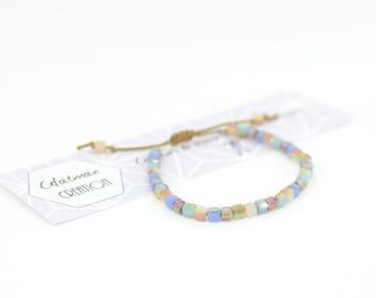 Bracelet multicolored sparkly beads