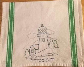 Lighthouse kitchen towel