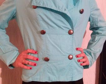 Perfecto jacket double breasted blue color