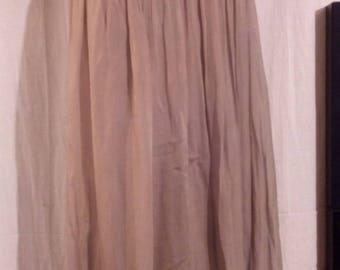 Long silk elastic waist skirt