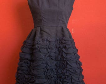 50's Blue tulle Handmade Dress size Medium