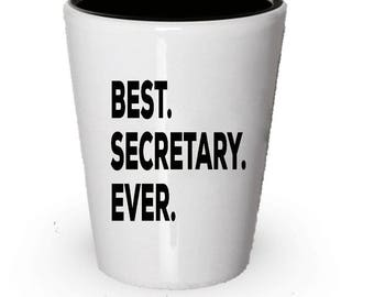 Secretary Shot Glass, Best Secretary Ever, Secretary gift, Gift for Secretary , Birthday Gift, Christmas Present
