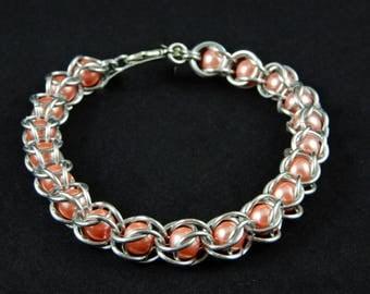 Handmade Captured Bead Chainmaille Bracelet