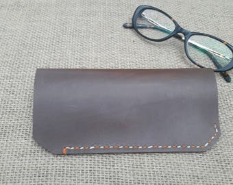 Leather glasses case  Leather glasses Pouch  Soft glasses case Slim glasses case Leather glass cases Glasses case  Eyeglass Case