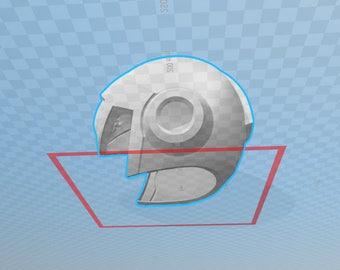 MEGAMAN X 3D file helmet