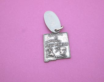 Sterling Silver Charm New Mexico Arizona Travel Pendant Vintage Jewelry Necklace