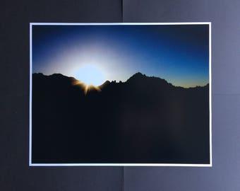 11x14 Joshua Tree Sunset Luster Print Unframed