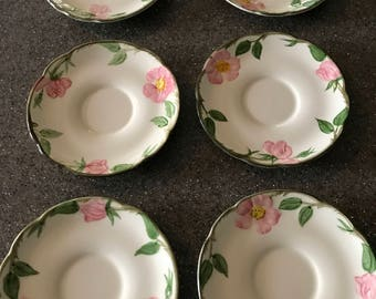 Franciscan / Desert Rose / 6- Saucers / Replacements / Vintage / Dinnerware