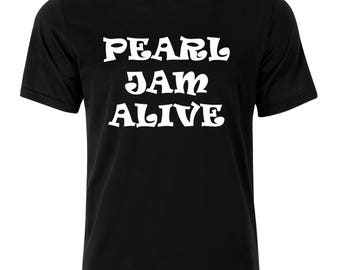 Music PEARL JAM ALIVE Gift T-Shirt 100% Cotton