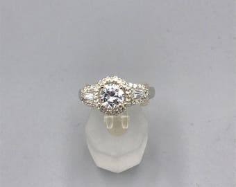 Silver Ring 925 with center stone