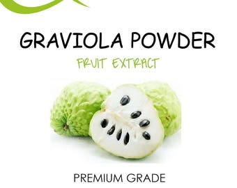 Graviola (Soursop) FRUIT Powder, Annona, Muricata, Guanabana, 100% Natural