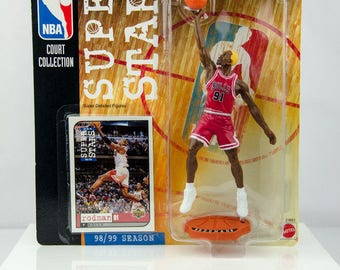 NBA Super Stars Court Collection 98/99 Dennis Rodman Action Figure Chicago Bulls