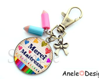 Thank you key centerpiece cabochon romantic pencil school year end gift
