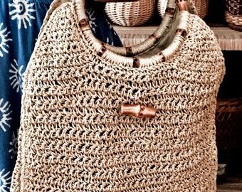 Straw handbag | Vintage handbag | Boho bag