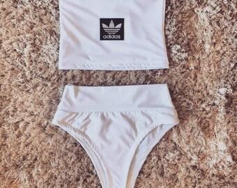 Reworked Adidas Bandeau Bikini