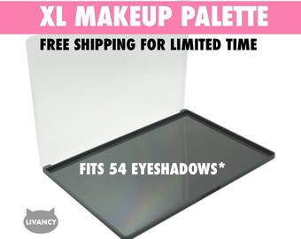 XL Makeup Palette Black - Magnetic - Fits 54 Eyeshadows*