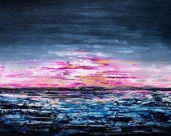 High quality abstract art print - Aeonic night