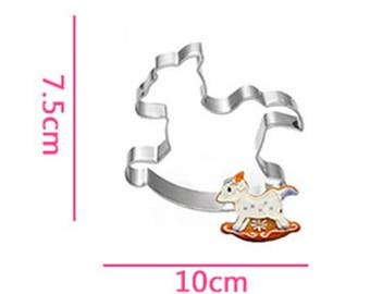 Rocking Horse Cookie Cutter- Fondant Biscuit Mold - Pastry Baking Tool Set