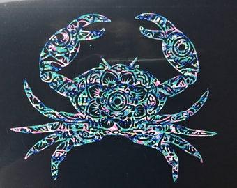Cancer the Crab Mandala Vinyl Decal, Original Design for Phones, Yetis & Laptops - You Choose Pattern + Color