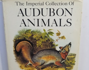 Vintage The Imperial Collection of Audubon Animals Hardcover Full Color Prints