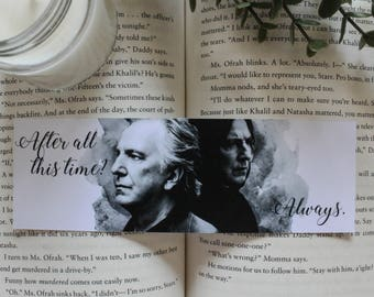 Harry Potter Bookmark Severus Snape