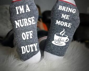 Wine Socks, Nurse Gift, Nurse Socks, Coffee Socks, Socks for nurses, funny nurse gift, Valentines Gift, Graduation, Love, Beer Socks