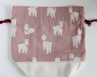 Sock size bag - alpacas