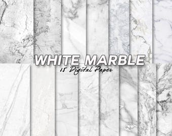 white marble digital paper, marble background, stone, scrapbook, scrapbooking,