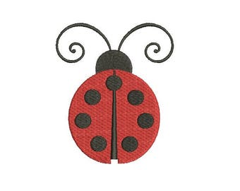 Ladybug Lady Bug  Embroidery Fill  Design Machine Embroidery Instant Download Digital File EN1046_F3