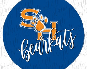 """Sam Houston State Bearkats 3"""" Game Day Buttons Pins"""