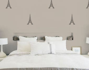 Paris Eiffel Tower Wall Decals (10 Stickers)