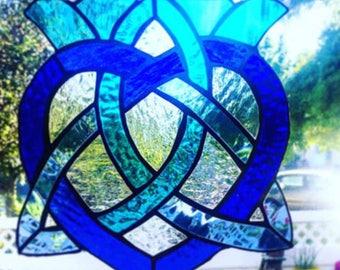 Blue celtic cross