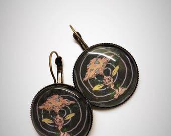 Personal illustration 'Magic mushroom' earrings