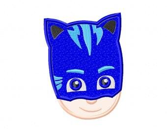 Pj Masks - applique design - machine embroidery - Pj Masks embroidery - CatboyPj Masks - Catboy applique - Catboy design - Gekko Embroider