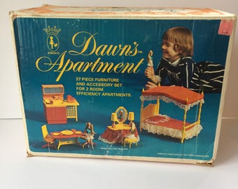 Box Only AMSCO Topper Dawn Doll Amsco Dawn's Apartment Box Only