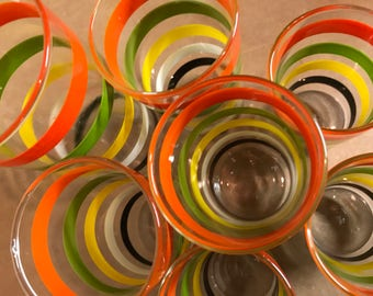 1950's Swanky Swig Juice Glasses