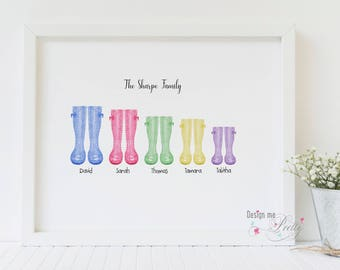 Family Wellington - Wellies spotty print - New Home - Our Family
