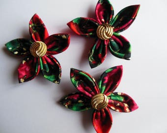 Floral fabric tones Christmas flowers