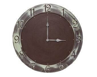 """24"""" Circle Wall Clock // Custom Wall Clocks"""
