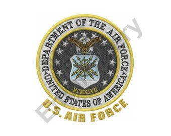 US Air Force - Machine Embroidery Design