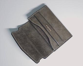 Business Card & Credit Card Wallet / 100% HandMade / Leather Wallet / Mini Wallet / Card Holder / Card Wallet / Card Case / OrderMade