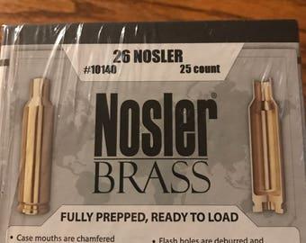 26 Nosler Factory Brass Casings 25 Count