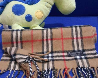 Free Shipping !!! Scarf Burberrys Beige Colour 100% Lambswool Made in England